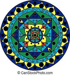Mehrfarbiger Mandala.