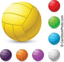 Mehrfarbiger Volleyball Realist