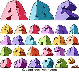 Mehrfarbiges Alphabet