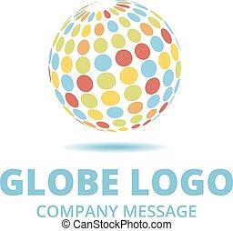 Mehrfarbiges Logo.