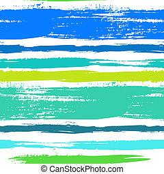 Mehrfarbiges Streifenmuster mit gebürsteten Linien