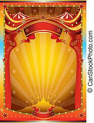 Mehrfarbiges Zirkusposter