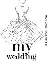Meine Hochzeit. Vektor Illustration