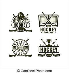 meisterschaft, liga, hockey, sammlung, logo