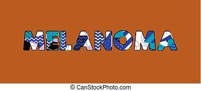 Melanoma Concept Wort Kunst Illustration