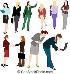 Menschen - Geschäftsfrauen Nr.1.
