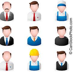 Menschen-Ikonen - Büro