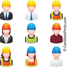 Menschen-Ikonen - Bau