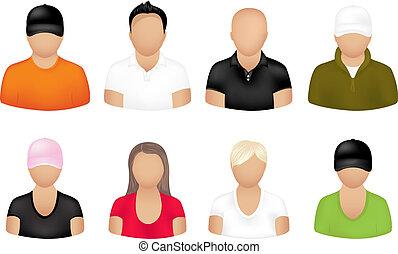 Menschen-Ikonen.