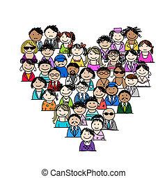 Menschen-Ikonen, Herzform für dein Design