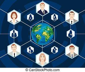 Menschen im globalen Geschäft.