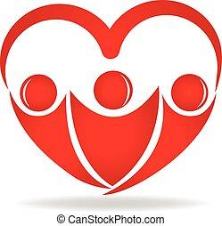 Menschen in Herzform Logo.