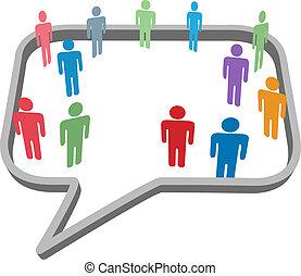 Menschen sind Symbole im sozialen Mediennetzwerk