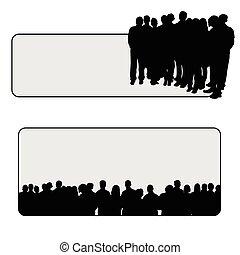 Menschen vektorten Silhouette Illustration.