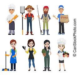 Menschen verschiedener Berufe
