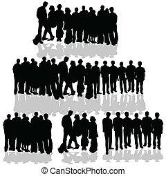 Menschengruppe auf weiß