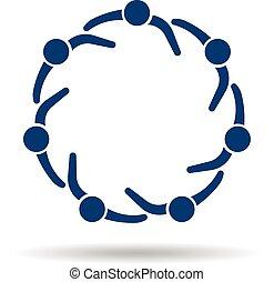 Menschenlogo. Kreis der Gemeinschaft