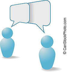 Menschensymbole teilen sich Sprach-Sprichworte