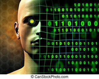 menschliche , digital