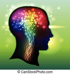 Menschliche Gehirnfarbe von Neuronen.