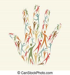 Menschliche Vielfaltskonzept-Hand