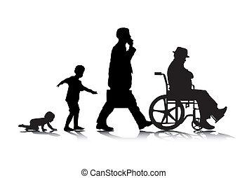Menschliches Alter zwei