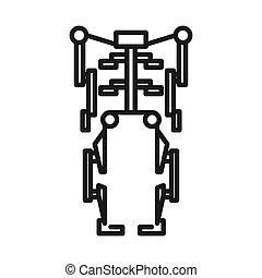 Menschliches Exoskelett Illustration Design.