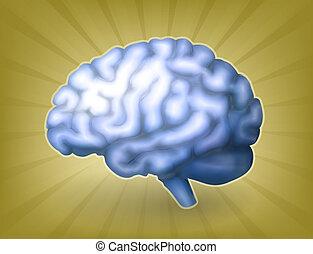Menschliches Gehirn blau, Eps 10.
