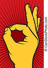 Menschliches Handzeichen