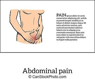Menstruationsschmerzen im Frauenkonzept.