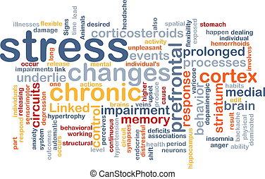 Mentale Stress-Hintergrund-Konzept