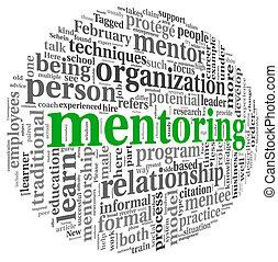 mentoring, begriff, wort, wolke, etikett