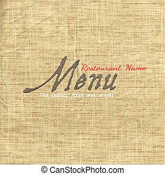 Menu-Card-Design auf dem alten Papier