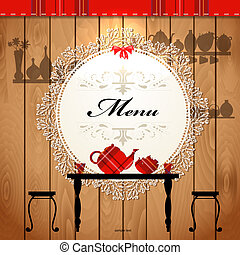 Menu-Karten-Design für ein süßes Café