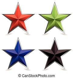 Metall-Bevel-Star-Form