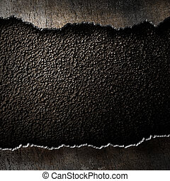 Metallhintergrund mit zerrissenen Kanten