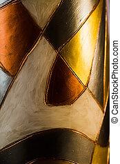 Metallische abstrakte Figuren.