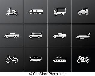 Metallische Ikonen - Transportmittel