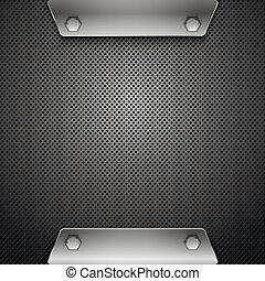 Metallischer Hintergrund abbrechen. Vektor Illustration. Eps10