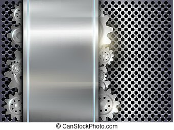 Metallischer Hintergrund mit Getrieben.