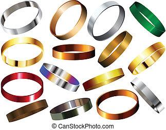 Metallringe, Armbänder