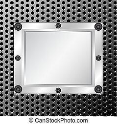 Metallsprünge mit silbernem Rahmen