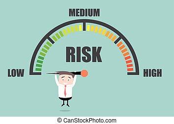 meter, risiko, person