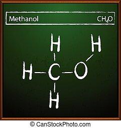 Methanol-Formel.