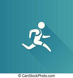 Metro Ikone - laufender Athlet