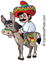 Mexikanischer reitender Esel