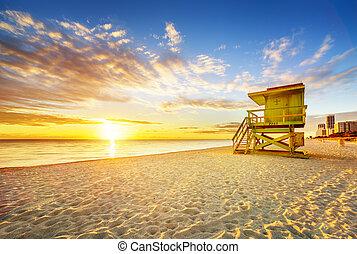 Miami South Beach Sonnenaufgang.