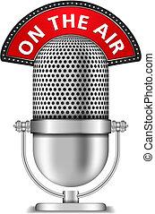 Mikrofon auf Sendung