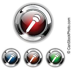 Mikrophon-Icon, Knopf, Vektor krank