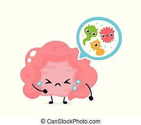 Mikroskopische böse Bakterien. Mikroflora, Viren